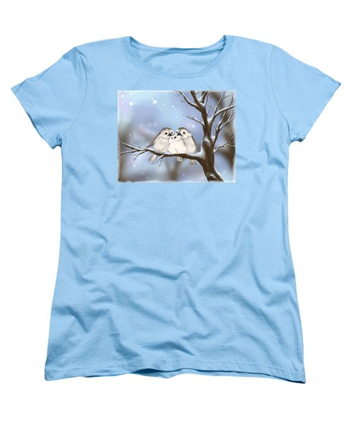 Women's T-Shirt (Standard Cut) featuring the painting Sweet Family by Veronica Minozzi