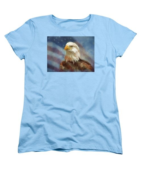 Sweet Land Of Liberty Women's T-Shirt (Standard Cut) by Colleen Taylor