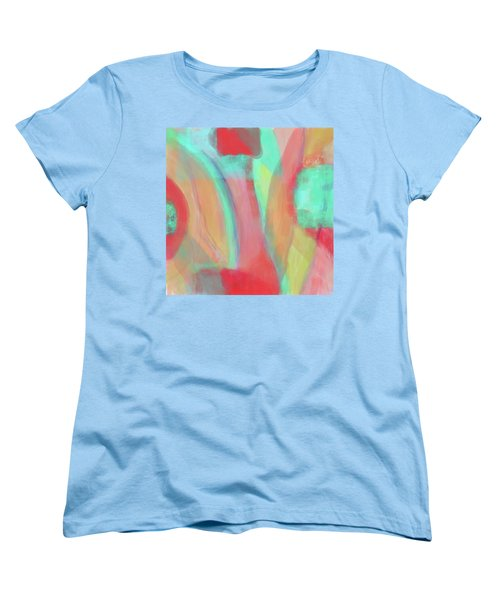 Women's T-Shirt (Standard Cut) featuring the digital art Sweet Little Abstract by Susan Stone