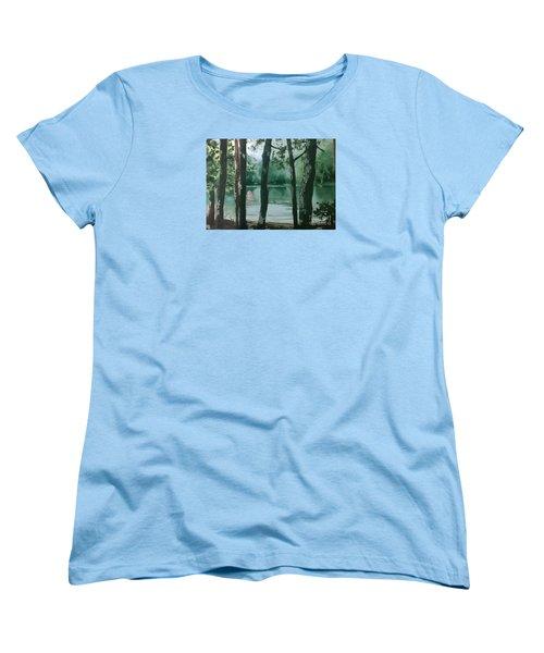 Swimming Hole Women's T-Shirt (Standard Cut) by Elizabeth Carr