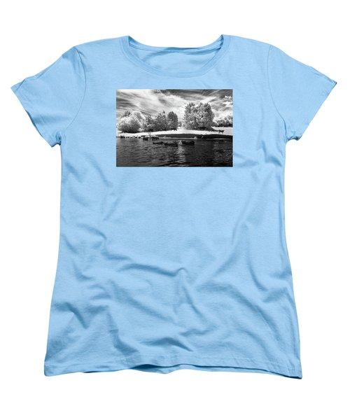 Swimming With Cows II Women's T-Shirt (Standard Cut) by Paul Seymour