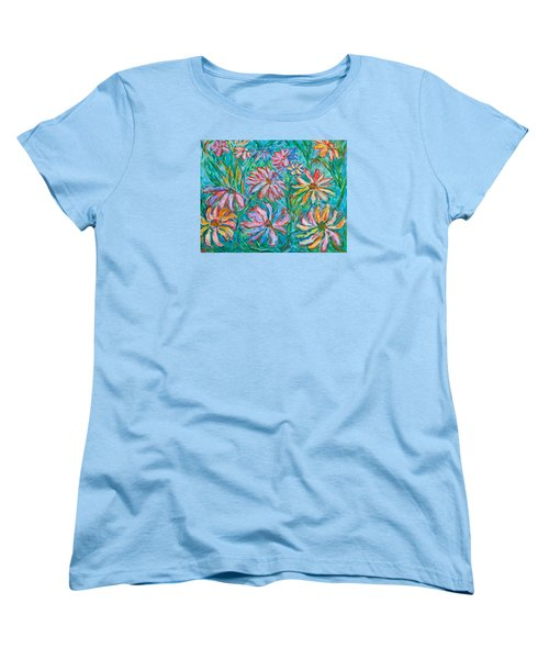 Women's T-Shirt (Standard Cut) featuring the painting Swirling Color by Kendall Kessler