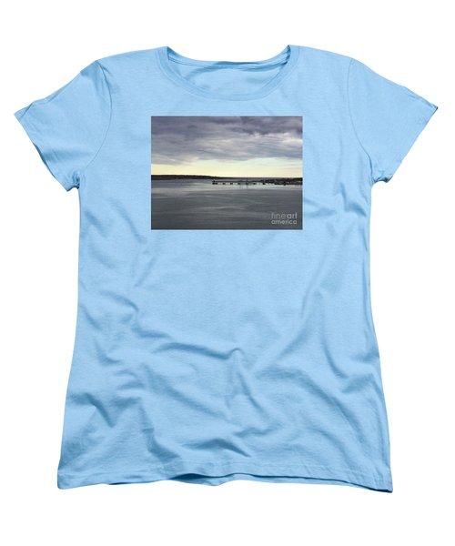 Swirling Currents On Casco Bay Women's T-Shirt (Standard Cut) by Patricia E Sundik