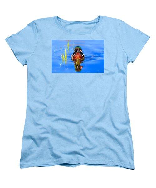 Swirls In The Reeds Women's T-Shirt (Standard Cut) by Lynn Hopwood