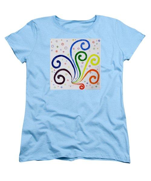 Swirls Women's T-Shirt (Standard Cut) by Sonali Gangane