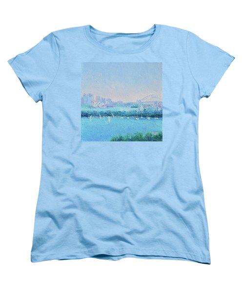 Sydney Harbour And The Opera House Women's T-Shirt (Standard Cut) by Jan Matson
