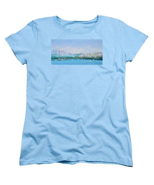 Sydney Harbour Bridge - Sydney Opera House - Sydney Harbour Women's T-Shirt (Standard Cut) by Jan Matson