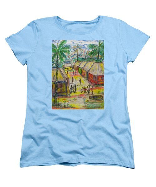 Women's T-Shirt (Standard Cut) featuring the painting Artwork On T-shirt - 0012 by Mudiama Kammoh