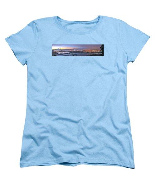 Tacoma Dawn Panorama Women's T-Shirt (Standard Cut) by Sean Griffin