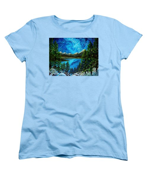 Women's T-Shirt (Standard Cut) featuring the painting Tahoe A Long Time Ago by Matt Konar