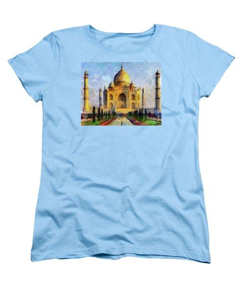 Taj Mahal Women's T-Shirt (Standard Cut) by Dragica Micki Fortuna