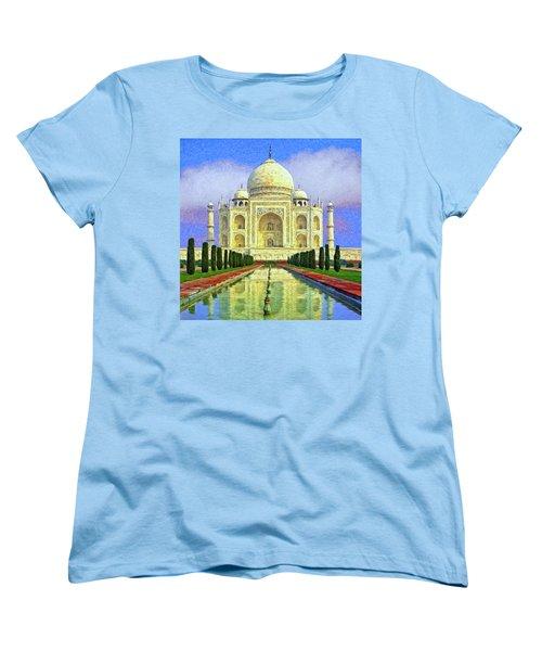 Taj Mahal Morning Women's T-Shirt (Standard Cut) by Dominic Piperata