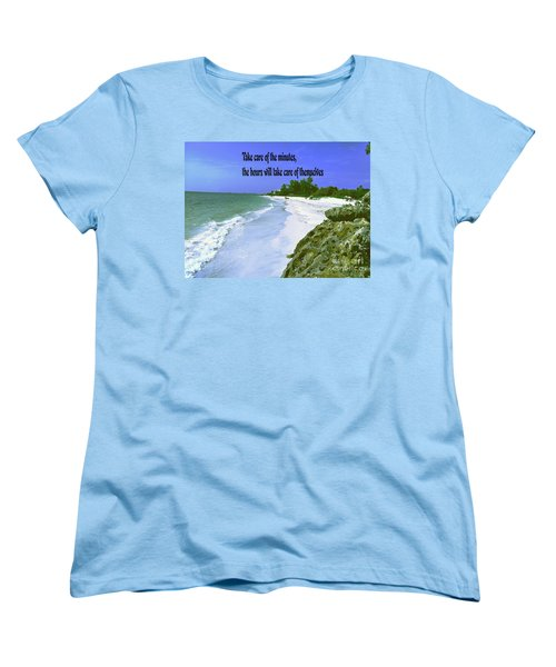 Women's T-Shirt (Standard Cut) featuring the photograph Take Care Of The Minutes by Gary Wonning