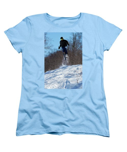 Women's T-Shirt (Standard Cut) featuring the photograph Taking Air On Mccauley Mountain by David Patterson