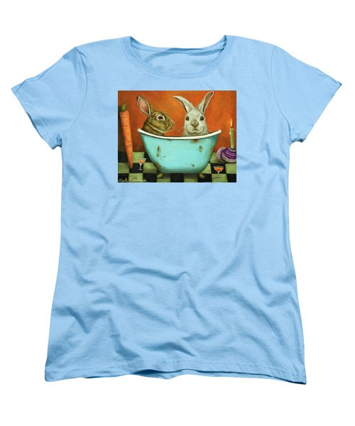 Tale Of Two Bunnies Women's T-Shirt (Standard Cut) by Leah Saulnier The Painting Maniac