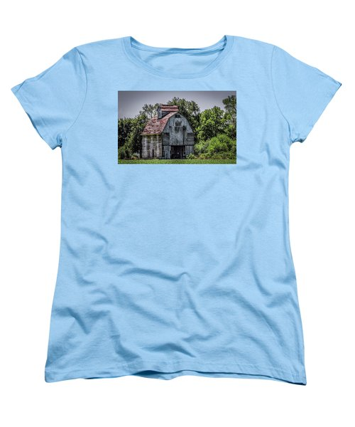 Women's T-Shirt (Standard Cut) featuring the photograph Tall Barn by Ray Congrove