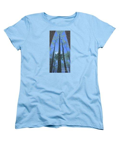 Tall Blue Ridge Beauty Women's T-Shirt (Standard Cut) by Anne Marie Brown