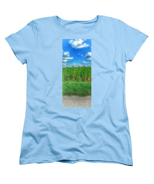Tall Corn Women's T-Shirt (Standard Cut) by Jame Hayes