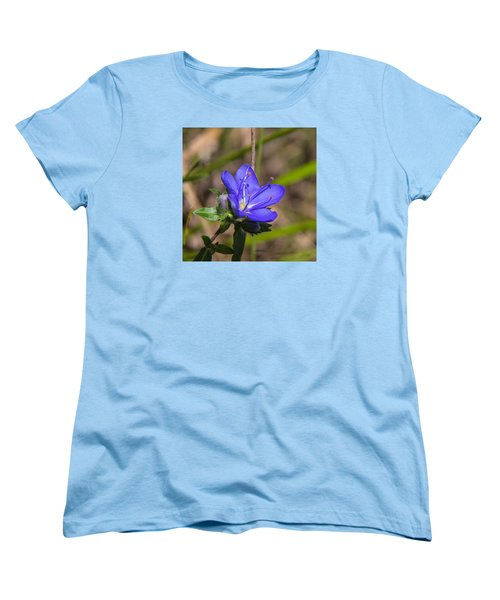 Tall Hydrolea Wildflower Women's T-Shirt (Standard Cut) by Christopher L Thomley