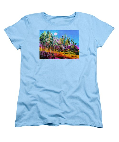 Women's T-Shirt (Standard Cut) featuring the painting Tall Left And Front by John Williams