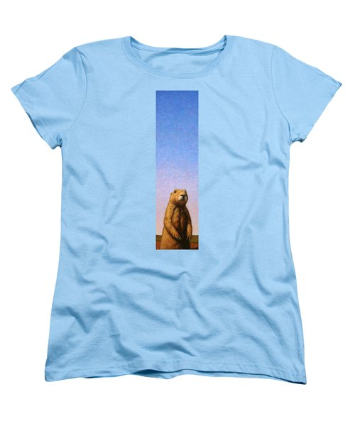 Tall Prairie Dog Women's T-Shirt (Standard Cut) by James W Johnson