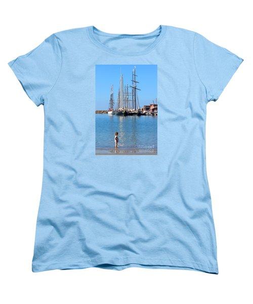 Women's T-Shirt (Standard Cut) featuring the photograph Tall Ship Festival by Cheryl Del Toro