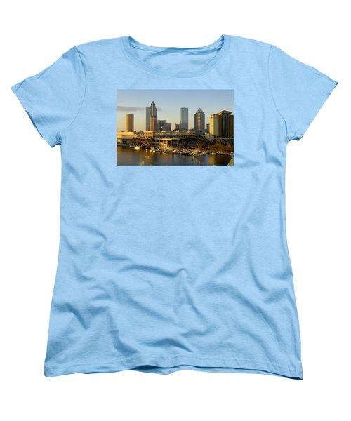 Tampa Bay And Gasparilla Women's T-Shirt (Standard Cut) by David Lee Thompson