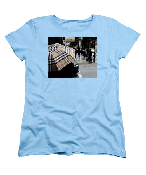 Women's T-Shirt (Standard Cut) featuring the photograph Tap Me On The Shoulder  by Empty Wall