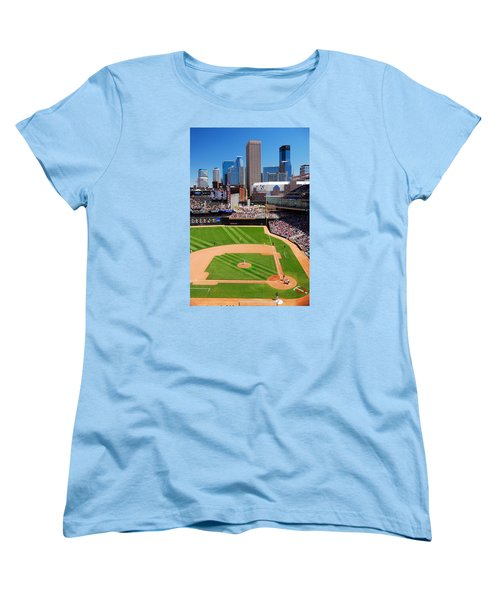 Target Field, Home Of The Twins Women's T-Shirt (Standard Cut) by James Kirkikis