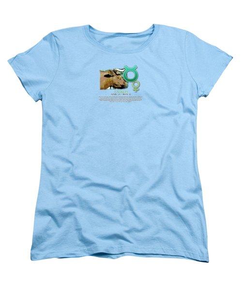 Taurus Sun Sign Women's T-Shirt (Standard Cut) by Shelley Overton