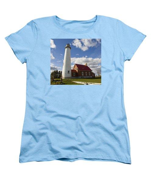 Tawas Point Lighthouse Women's T-Shirt (Standard Cut) by Tara Lynn