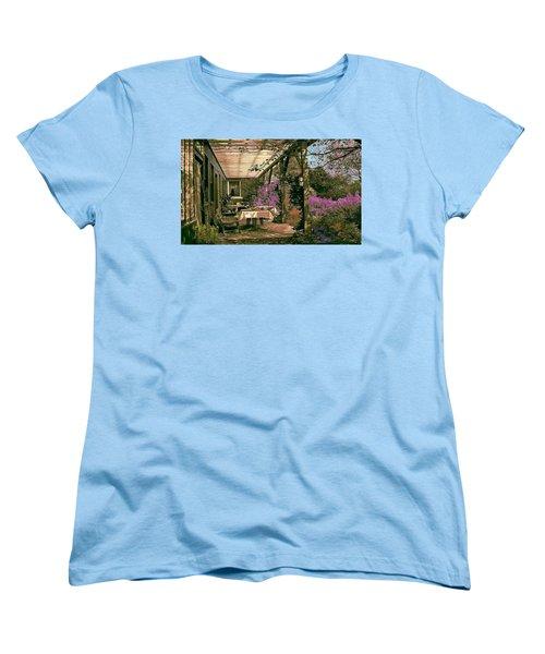 Tea Garden Women's T-Shirt (Standard Cut) by John Selmer Sr