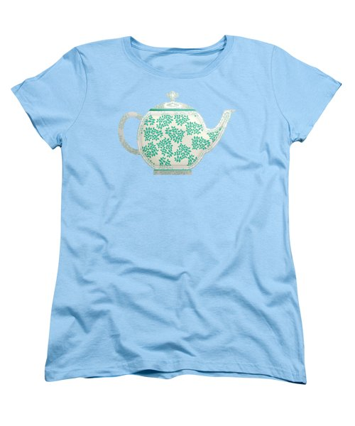 Teapot Garden Party 1 Women's T-Shirt (Standard Cut) by J Scott