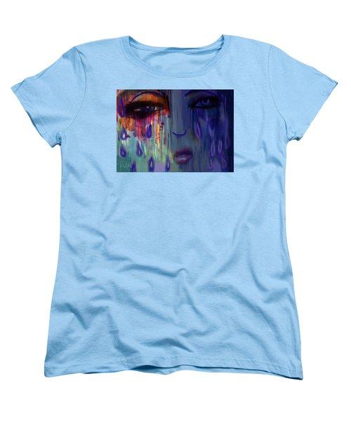 Tearful  Dream Women's T-Shirt (Standard Cut) by Diana Riukas