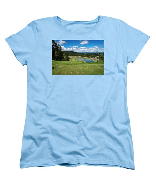 Women's T-Shirt (Standard Cut) featuring the photograph Tee Box With As View by Darcy Michaelchuk