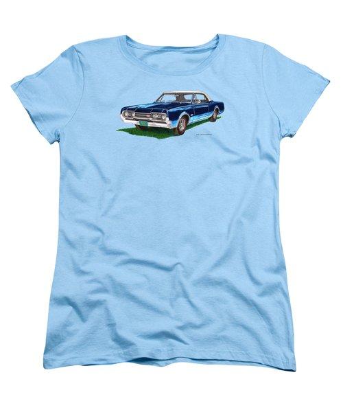 Tee Shirt Art 1967 Oldsmobile 4 4 2 Convertible Women's T-Shirt (Standard Cut) by Jack Pumphrey