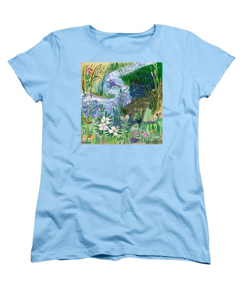 Teen Drawing -- Hummingbird Collecting Silk Women's T-Shirt (Standard Cut) by Dawn Senior-Trask