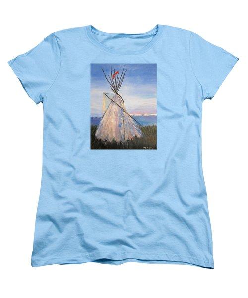 Teepee Dawn Women's T-Shirt (Standard Cut) by Kathryn Barry
