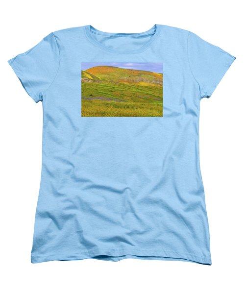 Women's T-Shirt (Standard Cut) featuring the photograph Temblor Range Spring Color by Marc Crumpler