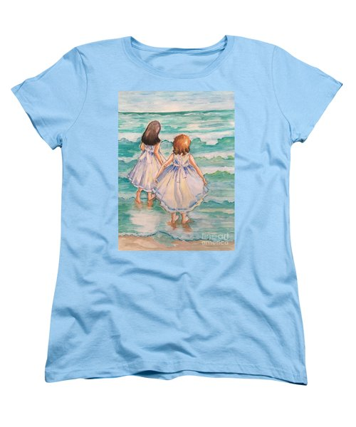 Women's T-Shirt (Standard Cut) featuring the painting Testing The Waters by Rosemary Aubut
