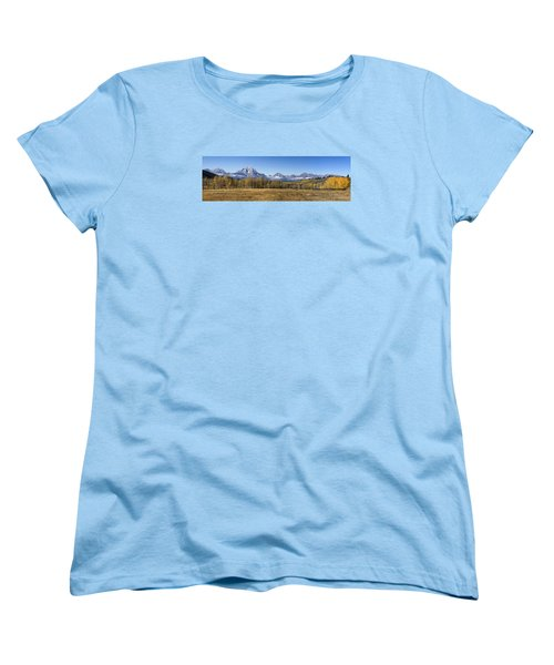 Women's T-Shirt (Standard Cut) featuring the photograph Teton Panorama by Shirley Mitchell