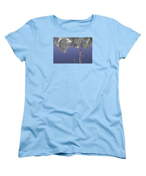 Teton Reflections Women's T-Shirt (Standard Cut) by Elizabeth Eldridge