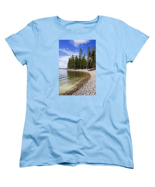 Teton Shore Women's T-Shirt (Standard Cut) by Chad Dutson