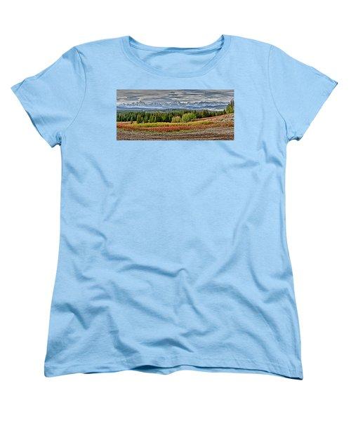 Tetons Women's T-Shirt (Standard Cut) by John Gilbert