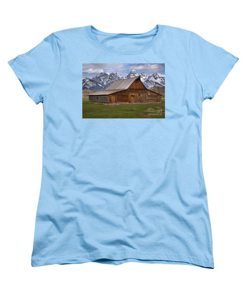 Tetons Towering Over The Moulton Barn Women's T-Shirt (Standard Cut) by Adam Jewell