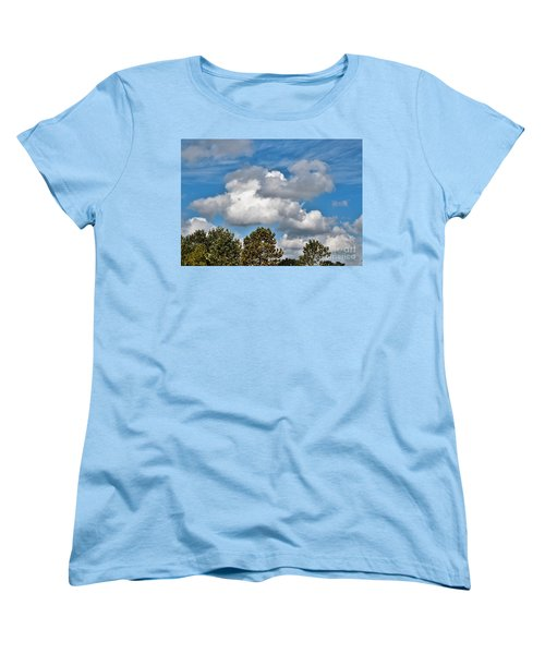 Women's T-Shirt (Standard Cut) featuring the photograph Texas - Reach For The Sky.   by Ray Shrewsberry