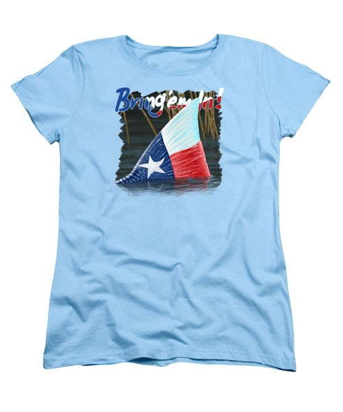Texas Tails Women's T-Shirt (Standard Cut) by Kevin Putman
