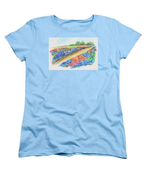 Texas Wild Flowers Women's T-Shirt (Standard Cut)