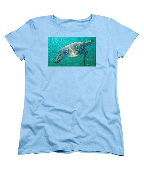 Thaddeus The Turtle Women's T-Shirt (Standard Cut) by Erika Swartzkopf