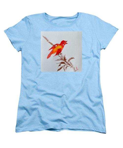Thank You Bird Women's T-Shirt (Standard Cut) by Beverley Harper Tinsley